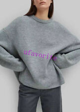 Noma 100% Wool pullover sweater coat Top fashion women 2021new XS S M gray/black