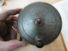 """vintage xx rare  heatons patent 3250 all brass salmon fly fishing reel 4"""""""