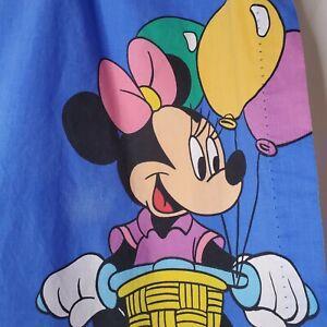 "Vintage Disney Curtain Panels 2 Minnie Donald Daisy Bicycles 40""x65"""
