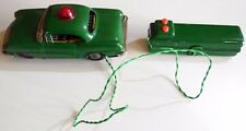 VINTAGE TIN CAR POLICE BATTERY OPERATED MARX LINEMAR MADE IN JAPAN TOY LATTA