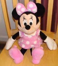 "Large 19"" Disney Minnie Mouse Pink Dress Plush Stuffed Animal"