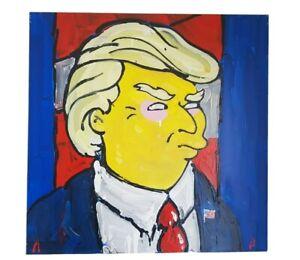 Alex Banks 'The Don, Looking Good' original painting of Donald TRUMP 61cm x 61cm