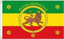 More details for him haile selassie ethiopian imperial standard rastafarian 5'x3' flag