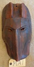 """TRIBAL WOOD CARVED MASK HEAD WOODEN  """"MA1"""""""