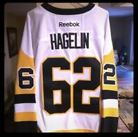 Carl Hagelin Autographed NHL Pittsburgh Penguins Reebok Hockey Jersey NWT L