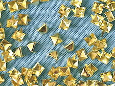 50 X Tachuelas ropa de Pirámide Color Dorado 8 mm Stud 003
