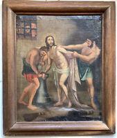 Tableau Ancien 17eme siècle l'Arrestation du Christ Huile sur Toile à restaurer