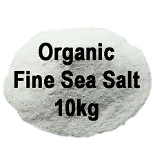 Organic Fine Sea Salt 10kg perfect for bath and body products - Food Grade!