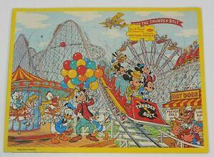 1960s Walt Disney Production Jaymar Puzzle AMUSEMENT PARK Three Little Pigs Wolf