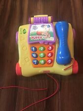 FISHER PRICE laugh n learn PHONE talks MUSIC pull toy ANIMAL numbers EDUCATIONAL