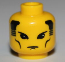 LeGo Yellow Minifig Head Orient Dragon Fortress Head China Guard NEW