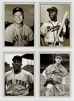 Lot of 4 Mantle Aaron Mays Musial Plutograph signature photo cards # /200  🔥