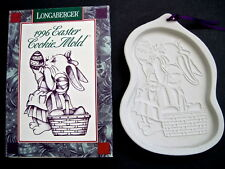 Longaberger Easter Rabbit Chocolate Mold Bunny With Basket & Eggs New
