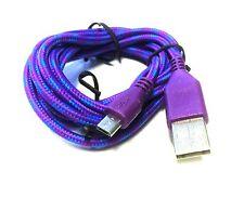 1 m Ladekabel Datenkabel Style geflochten Micro USB 2.0 für Samsung lila purple