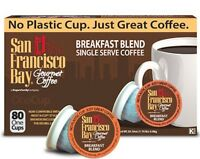 San Francisco Bay Coffee, One Cups, Single Serve, PICK ANY FLAVOR 12-160 Count