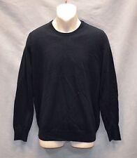 G0 NEW BURBERRY BRIT Extra Fine Merino Wool Elbow Patch Crewneck Sweater Size M