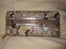 Anne Klein Zip around accordion clutch in faux snake effect