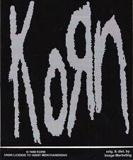 Korn Original 1998 Vintage 4x4 Gray And Black Car Bumper Sticker Jonathan Davis