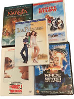 Lot O 5 Disney DVD Movie Narnia Eight Below Ice Princess Race To Witch Mountain