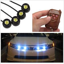Waterproof White 4in1 Hawkeye LED Car SUV Strobe Flash Lights DRL Fog Lamps 12V