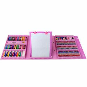 kids Colouring Art Gift Set 176 PCS Art  Case PINK  Best Gift Set For Kids
