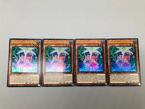Yu-Gi-Oh! 4x Angraecum-Schirm DUOV-DE 1. Auflage Near Mint Ultra Rare Card