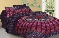 Indian Pink & Purple Mandala Bedding Quilt Duvet Cover King Size Comforter Set