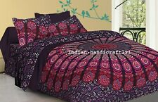 Indian Pink & Purple Mandala Bedding Quilt Duvet Cover King Size Comforter Set