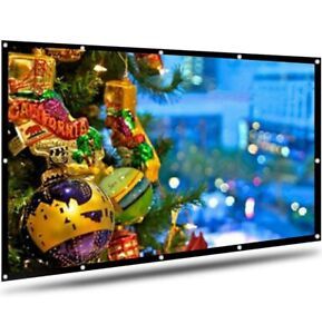 AYAOQIANG Projector Screen 100 Inch, Portable Projection Screen