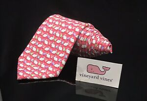 Vineyard Vines Boys Easter Red Bunny 🐰 Egg Holiday Cheerful Tie