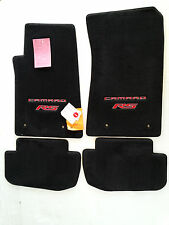 Chevy Camaro Ebony Carpet Floor Mats 4 Pc w/Camaro RS Logo Red  Fronts 2010-2015