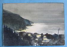 Jean-Guy Meunier Québec watercolor on Paper