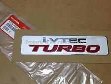 "OEM Acura ""i-VTEC Turbo"" RSX K20 Civic Si T4 T3 Greddy RDX Engine Emblem Decal"