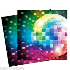 16'70 Disco Fever a tema festa di compleanno MONOUSO 33 cm Carta Tovaglioli 2ply