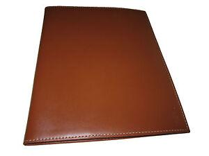 Ralph Lauren Saddle Brown Document iPad Folio Smooth Leather Case Bag Briefcase