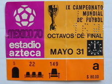 1970 MEXICO IX SOCCER WORLD CUP MAY 31 MEXICO 0 vs RUSSIA 0 ORIGINAL TICKET