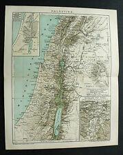 1893.Mappa Geo-Topografica= Palästina = PALESTINA. ISRAEL- Hochland von Judäa