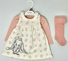 New NUTMEG Baby Girls Disney's Dumbo Cute Winter Top Tights Dress Outfit Set