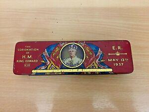 Very Rare Vintage H.M. King Edward VIII Coronation Thorne's Chocolate Tin 1937