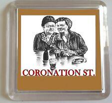 CORONATION STREET Ena Sharples & Hilda Ogden ACRYLIC COASTER Vintage Characters