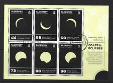 Alderney 2017 Coastal eclipsa a Miniatura Hoja Fine Used