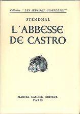 Stendhal L'Abesse de Castro 1946 Illustration Dehay