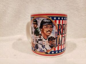 GORGEOUS Reggie Jackson 1993 Sports Impressions Glass Mug, New York Yankees LOOK