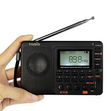 New TIVDIO V-115 Portable Radio FM/AM/SW Band MP3 Player 100 Station Presets HOT