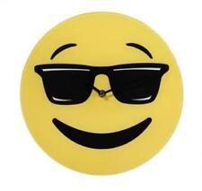 Orologio Da Parete In Vetro Emoticon Emotion Emoj 30CM Con Occhiali Da Sole