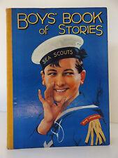 C1930 Knaben Buch Geschichten von mehreren Autoren selten farbigen Abbildungen