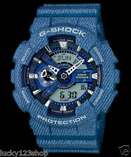 GA-110DC-2A Blue Casio Watches G-Shock 200M Analog Digital X-Large Resin