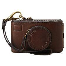 Super Rare! New Fossil Vintage Revival Camera Case Wristlet in Expresso Brown