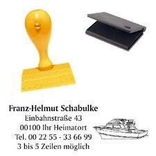 Holzstempel Stempel Textstempel Adressstempel Firmenstempel 30x30 bis 70x30 mm