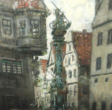 Heyden Karl 1845 Köln - 1933 Düsseldorf Rothenburg Marienapotheke Georgsbrunnen